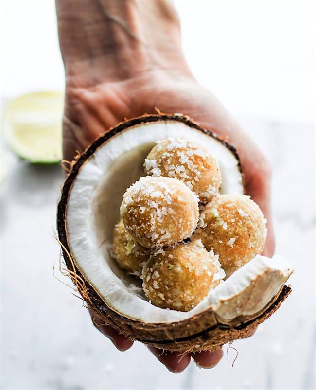 No Bake Coconut Margarita Bites | Cotter Crunch
