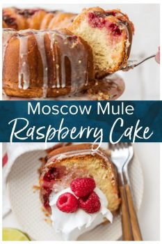 RASPBERRY CAKE makes life a little bit sweeter! This cake is inspired by one of my fave drinks, the Moscow Mule. It's made with fresh raspberries, ginger beer, a raspberry moscow mule simple syrup, and a fresh lime glaze.