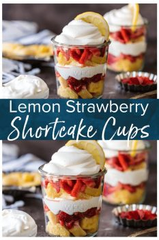 Strawberry Shortcake Cups are the perfect simple dessert recipe. These Otis Spunkmeyer LAYERED LEMON STRAWBERRY SHORTCAKE CUPS are super delicious! Layers of lemon cake, strawberries, and cool whip make the best sweet treat for after school or anytime!