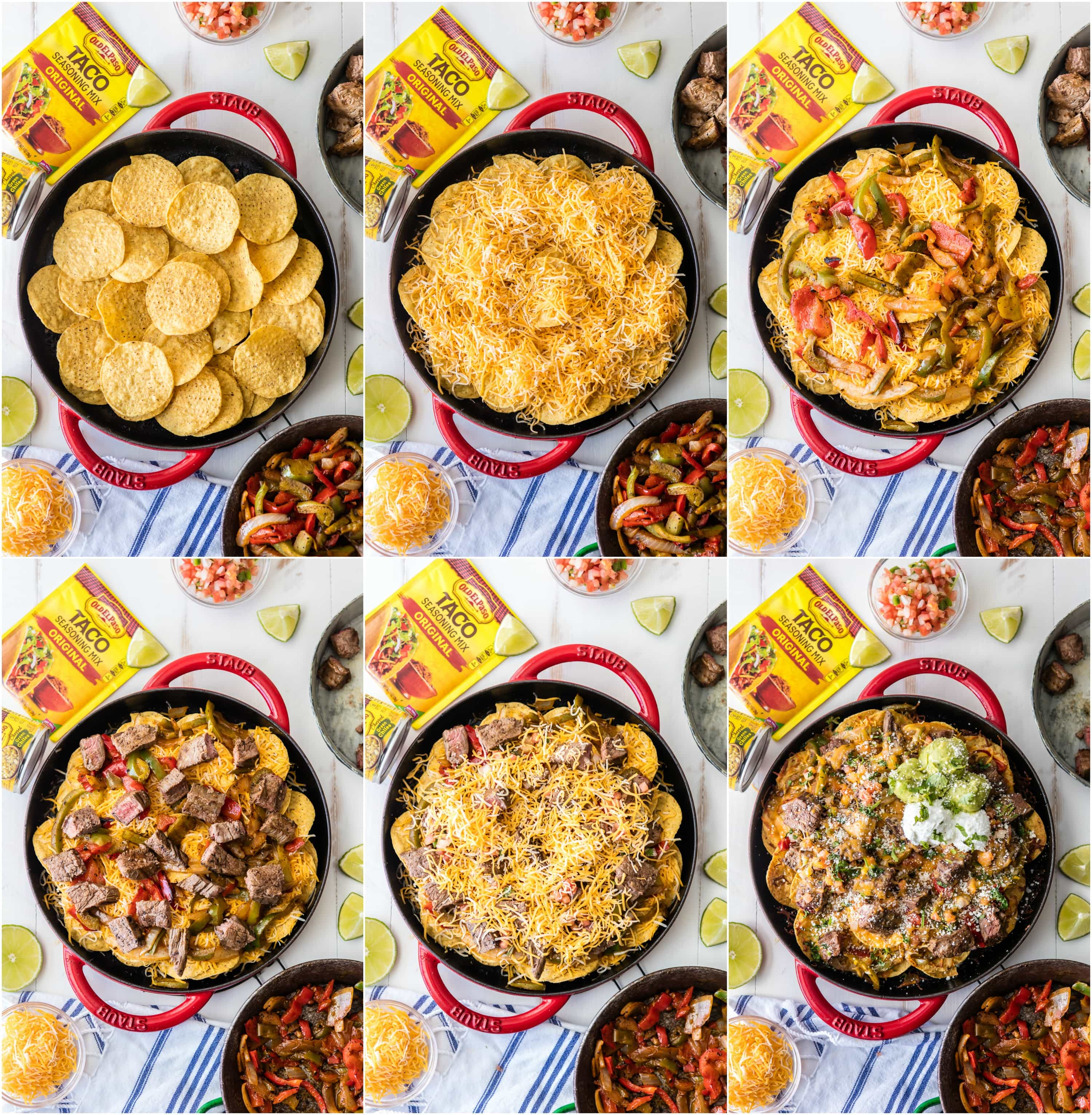 Photo collage: How to make steak nachos