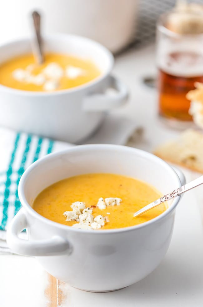 15-Minute Beer Cheese Soup | The Cookie Rookie