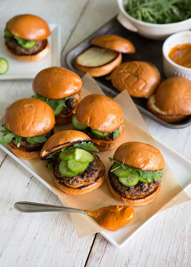 Asian Sliders with Gochujang Mayo | The Little Epicurean