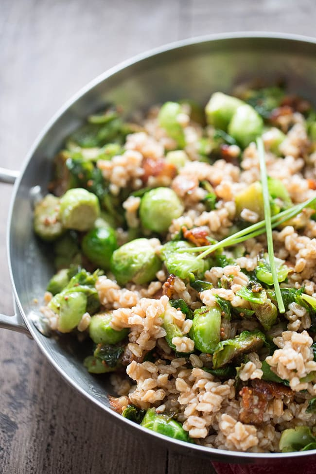Brussels Sprouts and Farro Salad | Lemons For Lulu