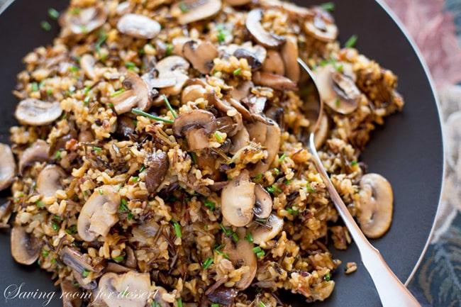 Wild Rice and Mushroom Pilaf | Saving Room For Dessert