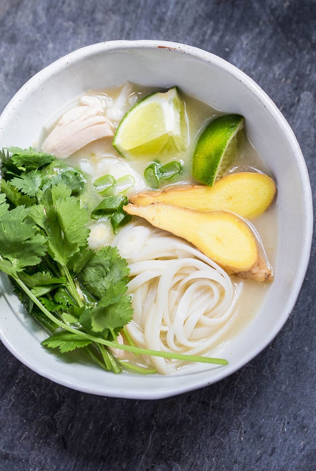 Asian Chicken Soup | Dessert For Two