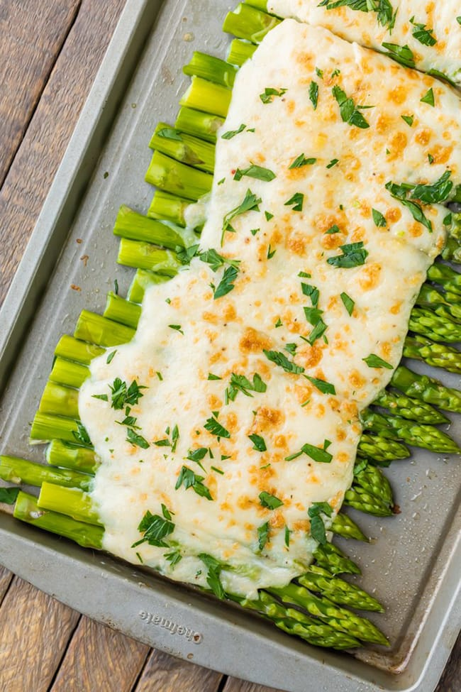 Three Cheese Asparagus Gratin | The Cookie Rookie