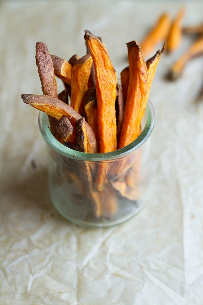 Baked Sweet Potato Fries | Eating Bird Food