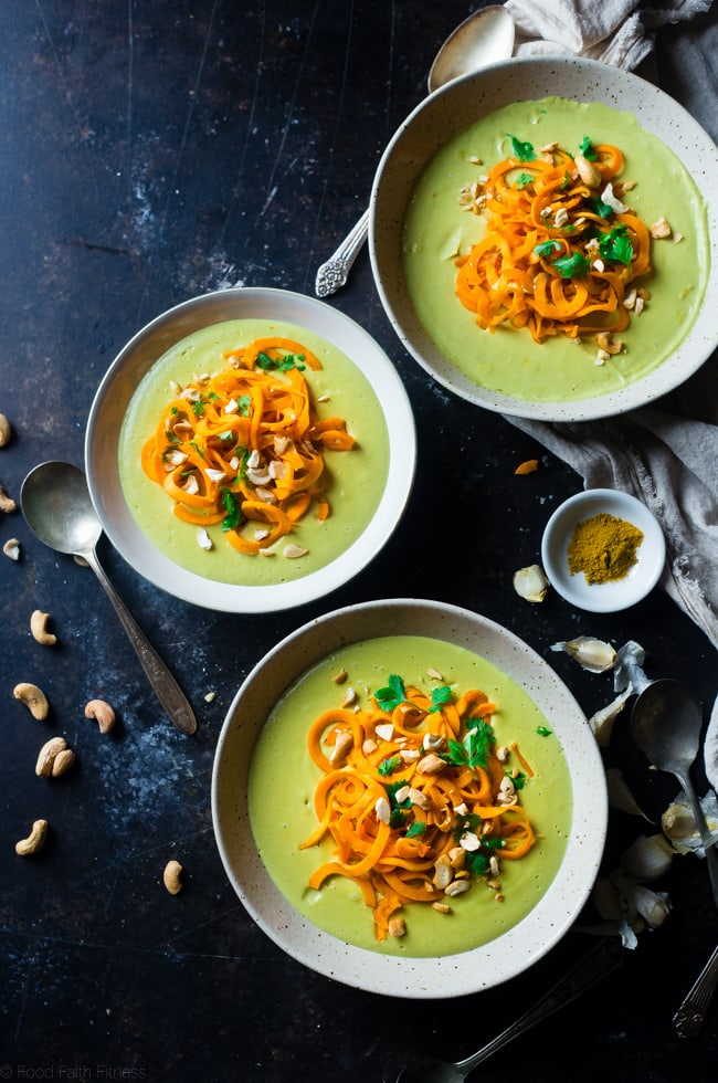 Coconut Curry Soup with Sweet Potato Noodles | Food Faith Fitness
