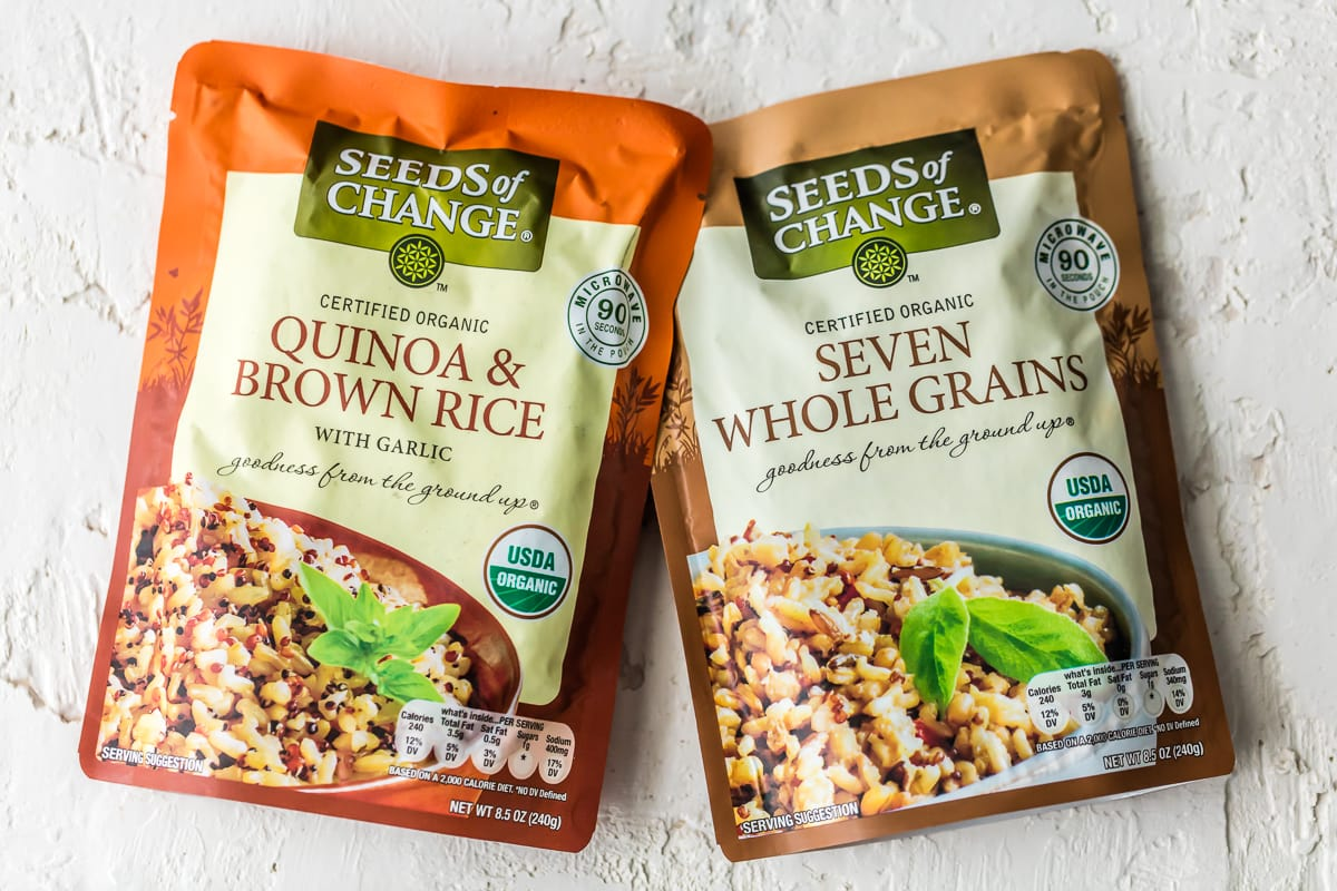 Packet of seeds of change quinoa and brown rice