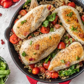 Skillet BLT Chicken and Rice