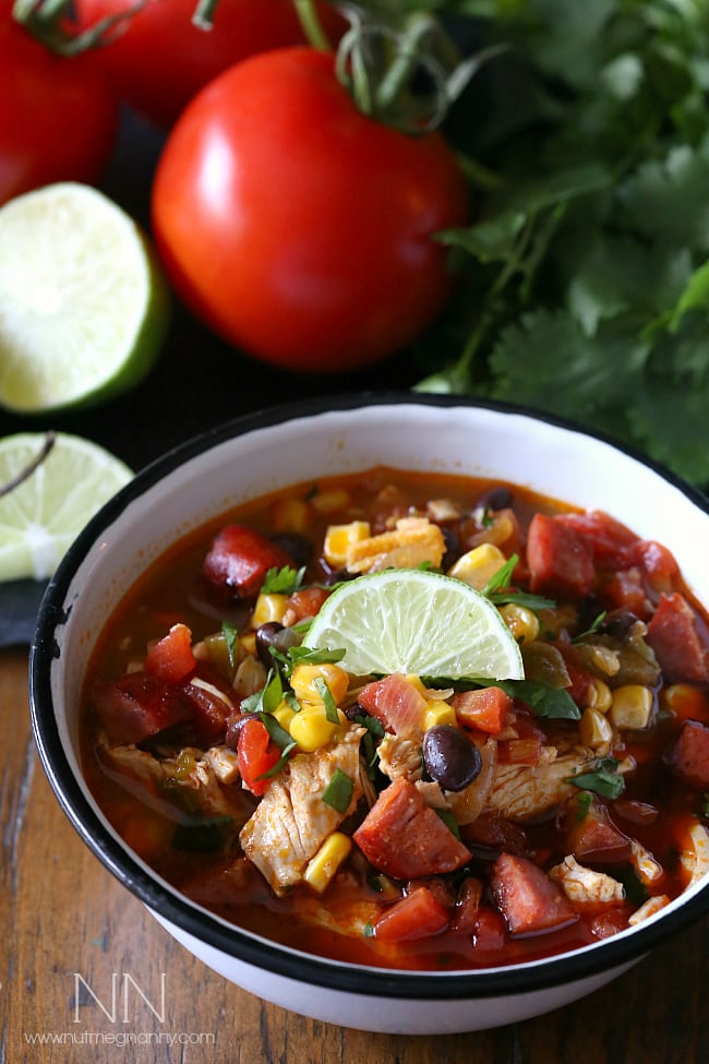 Spicy Chicken and Lime Soup | Nutmeg Nanny