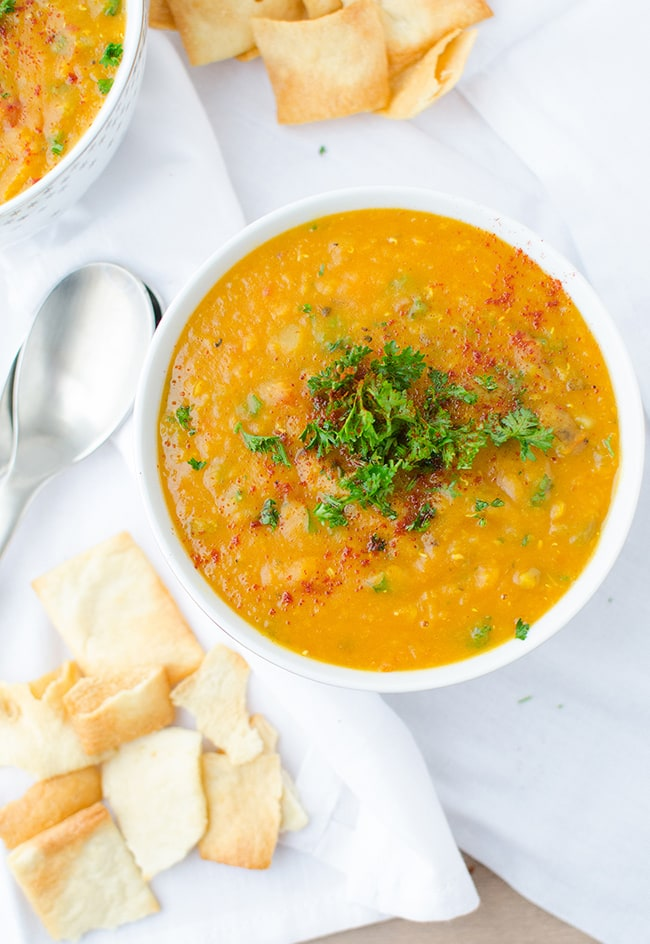 Vegan Red Lentil Soup | Delish Knowledge