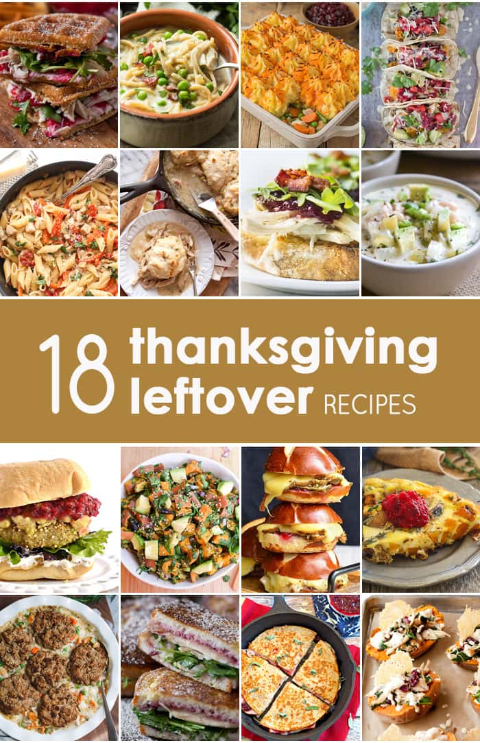 Thanksgiving leftovers are delicious to eat on their own, but you can also use leftovers from Thanksgiving to create any of these 18 Thanksgiving leftovers recipes!