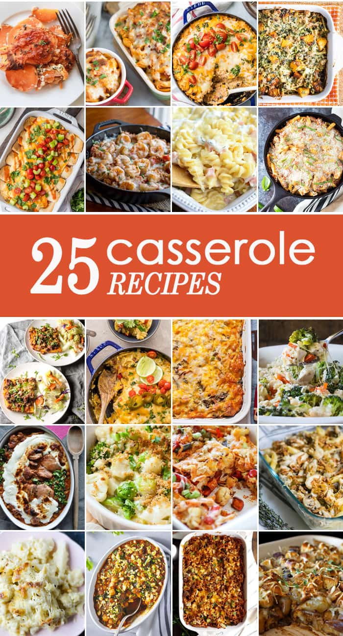 25 CASSEROLE RECIPES for every occasion! 25 EASY Casserole Recipes for Thanksgiving, Christmas, Easter, and everything in between! Everything from classic casseroles to thinking outside of the box. YUM!