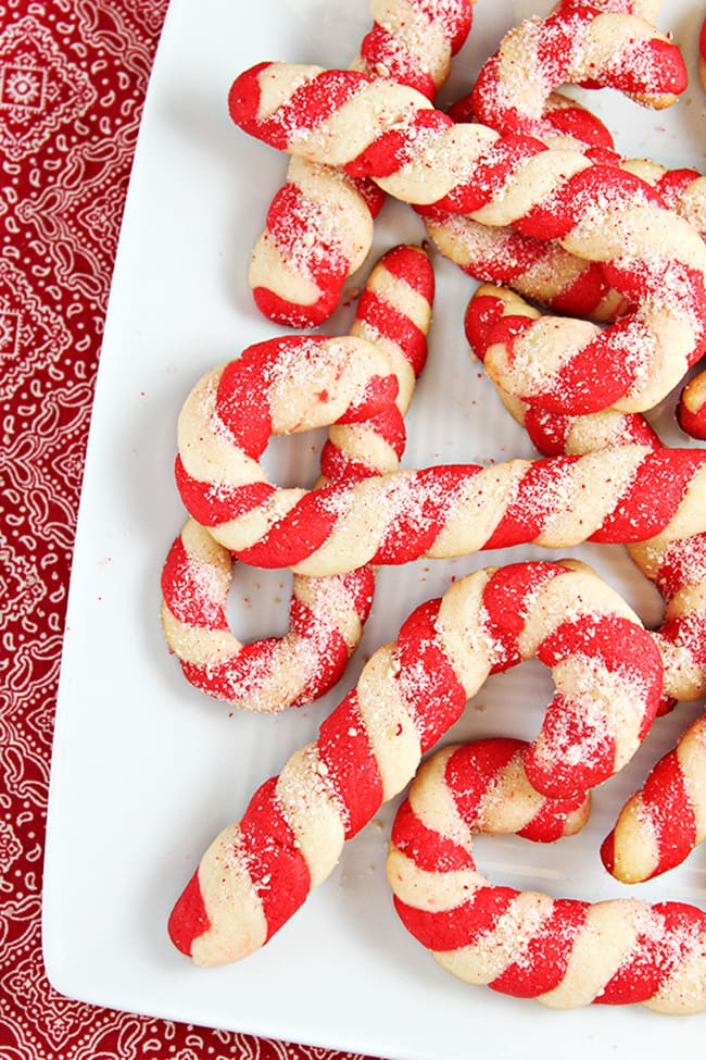 Candy Cane Cookies | Home Cooking Memories