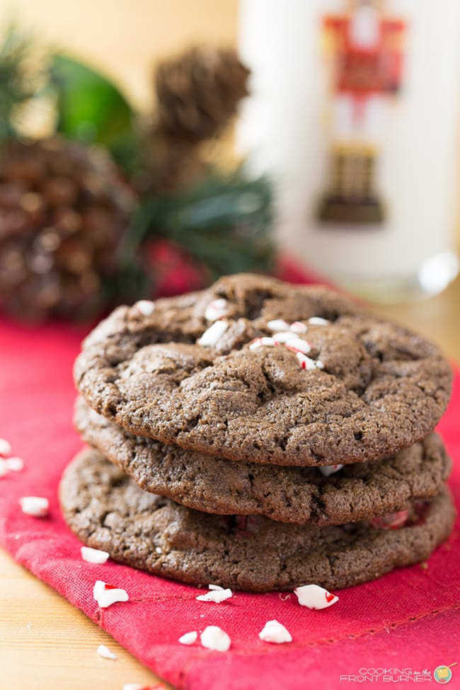 Triple Chocolate Peppermint Cookies | Cooking on the Front Burners