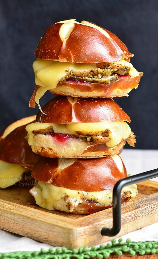 Cranberry Asiago Turkey Sliders | Will Cook For Smiles