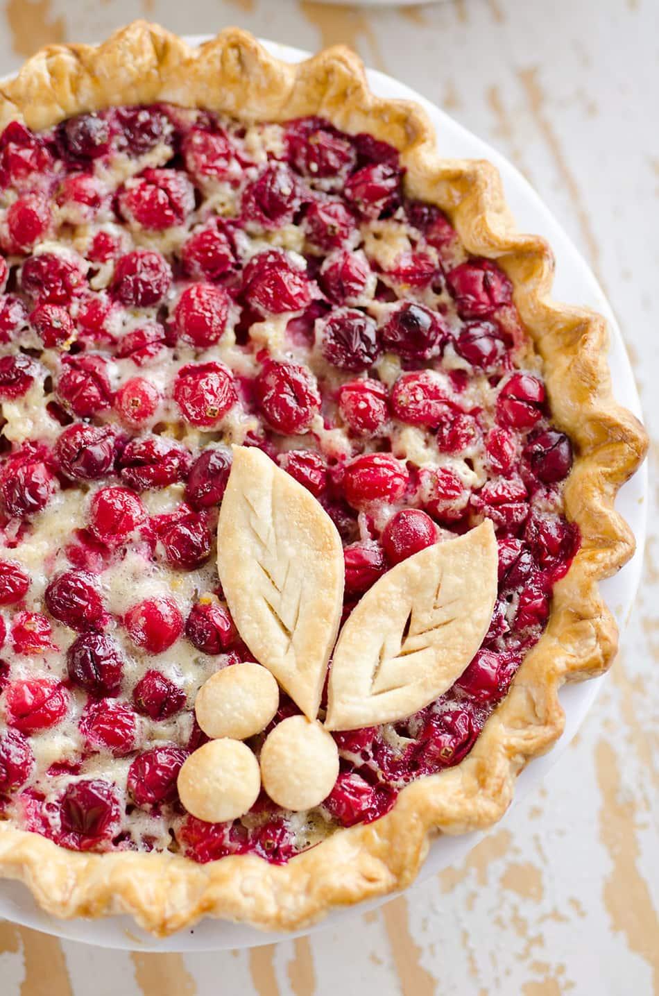 Cranberry Orange Custard Pie | The Creative Bite