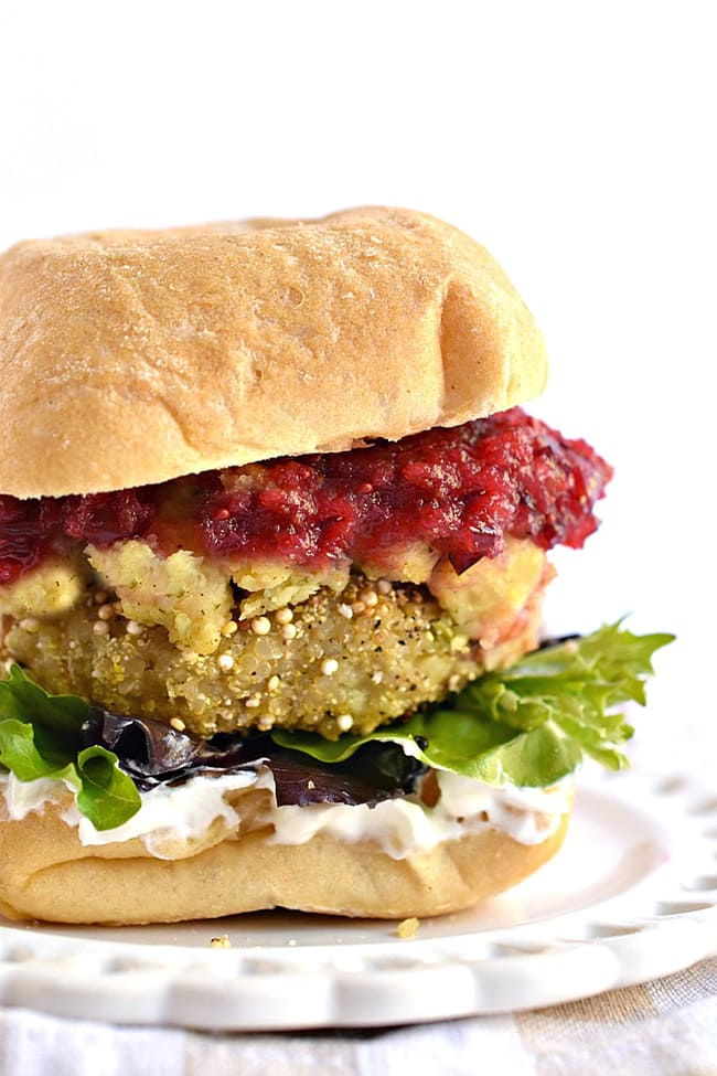Thanksgiving Leftovers Quinoa Burger | Fork and Beans