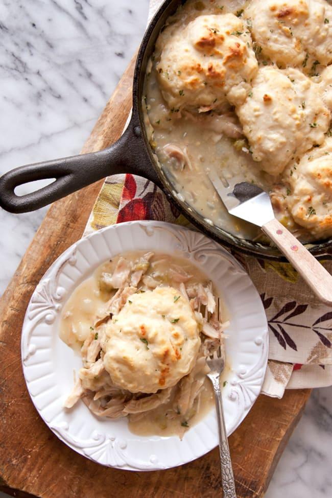 One Skillet Turkey Pot Pie | Muy Bueno