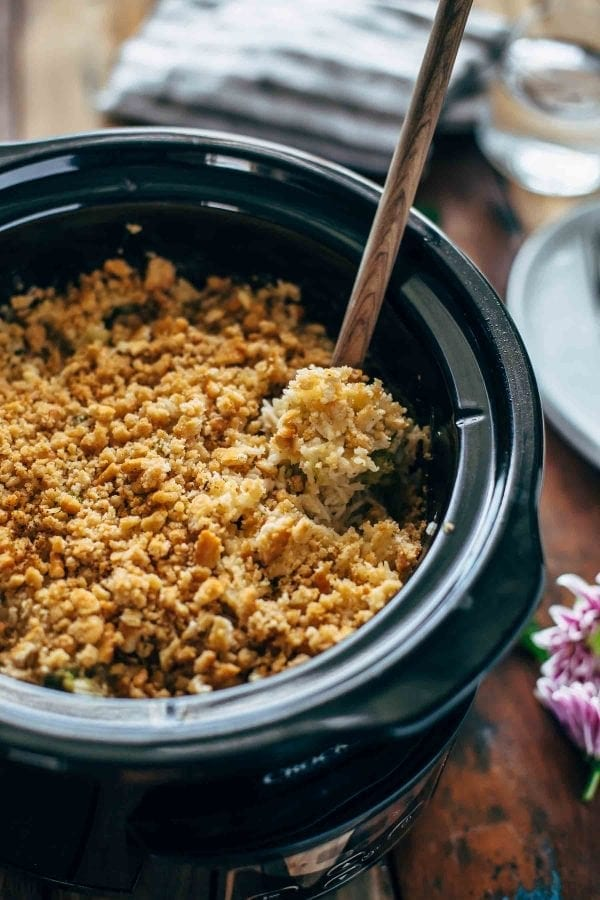 Slow Cooker Velveeta Broccoli Rice Casserole Recipe Video
