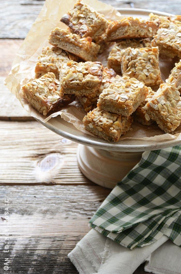 Salted Butterscotch Oat Bars | An Edible Mosaic
