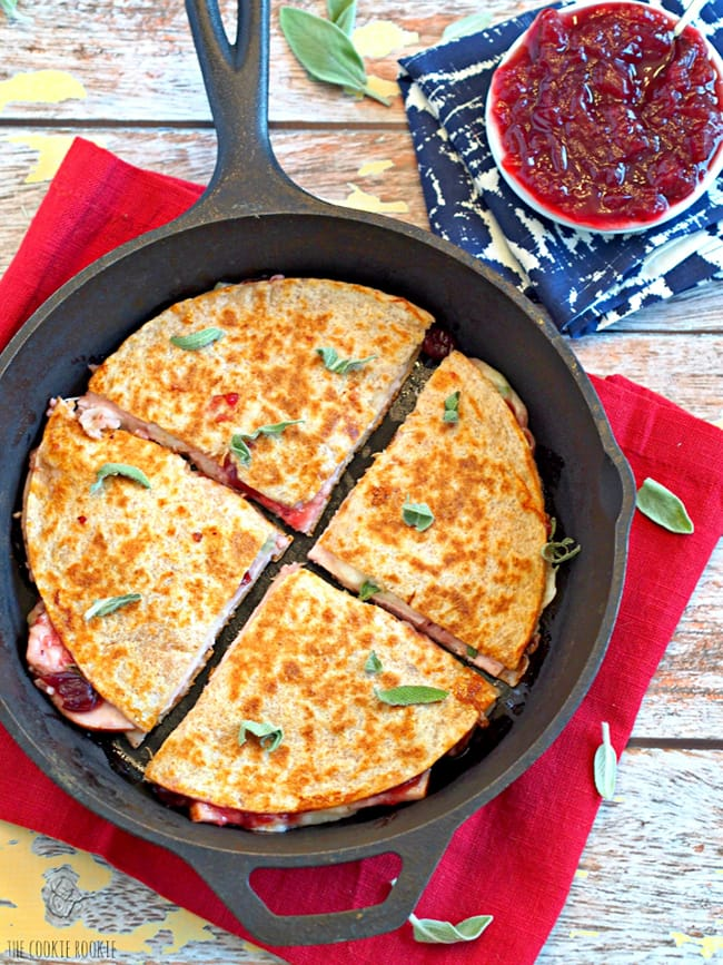 Thanksgiving Leftovers Quesadilla | The Cookie Rookie