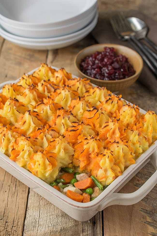Thanksgiving Leftovers Turkey Shepherd's Pie | Culinary Ginger