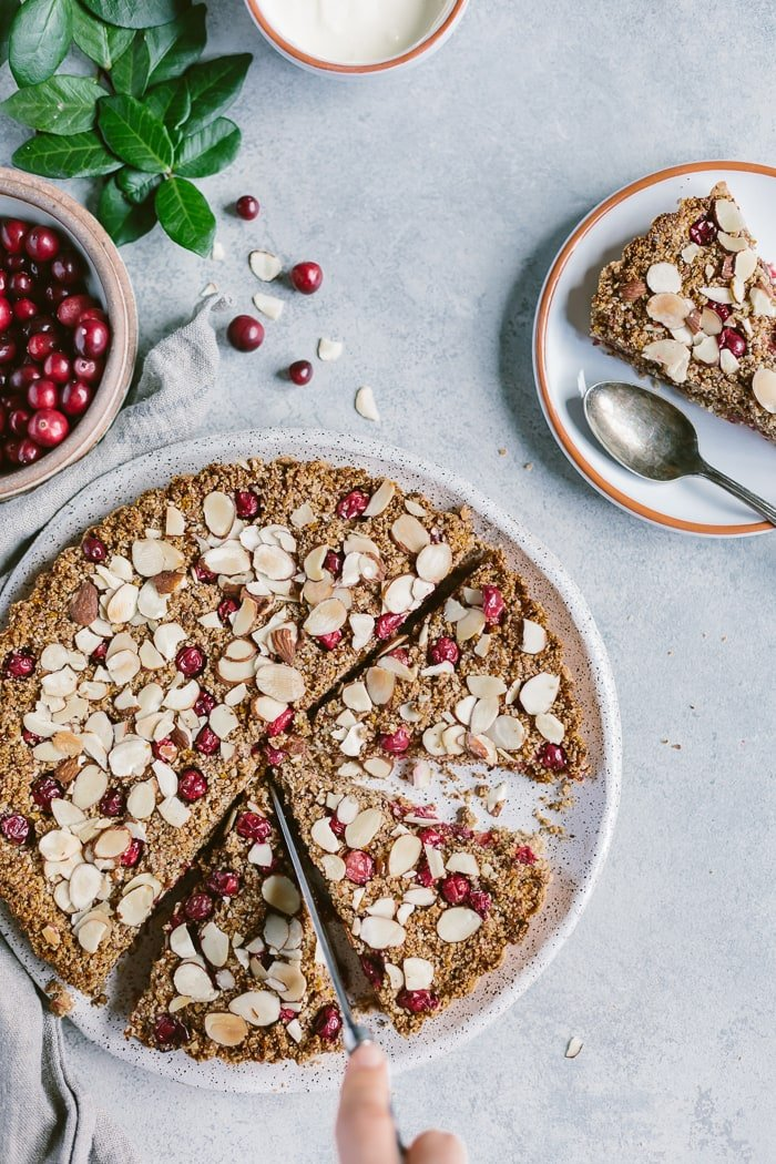 Maple Sweetened Cranberry Almond Tart | Foolproof Living