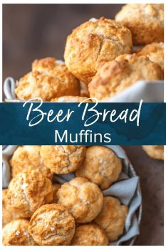 BEER BREAD MUFFINS are my absolute favorite easy bread recipe! These fun little bisquick muffins taste just like a comforting loaf of beer bread. They're the ultimate addition to any meal, especially Thanksgiving!