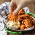 The BEST Fried Buffalo Wings (Gluten Free)