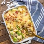 Brussels Sprout Gratin with Bacon