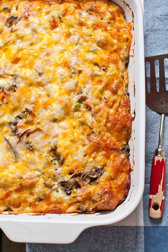 Bubble Up Ham and Cheese Breakfast Casserole   Neighbor Food