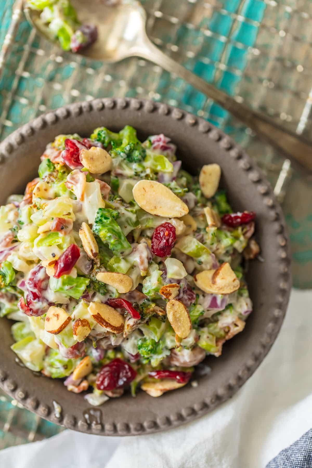 Charred broccoli cranberry salad
