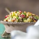 Cranberry Almond Charred Broccoli Salad