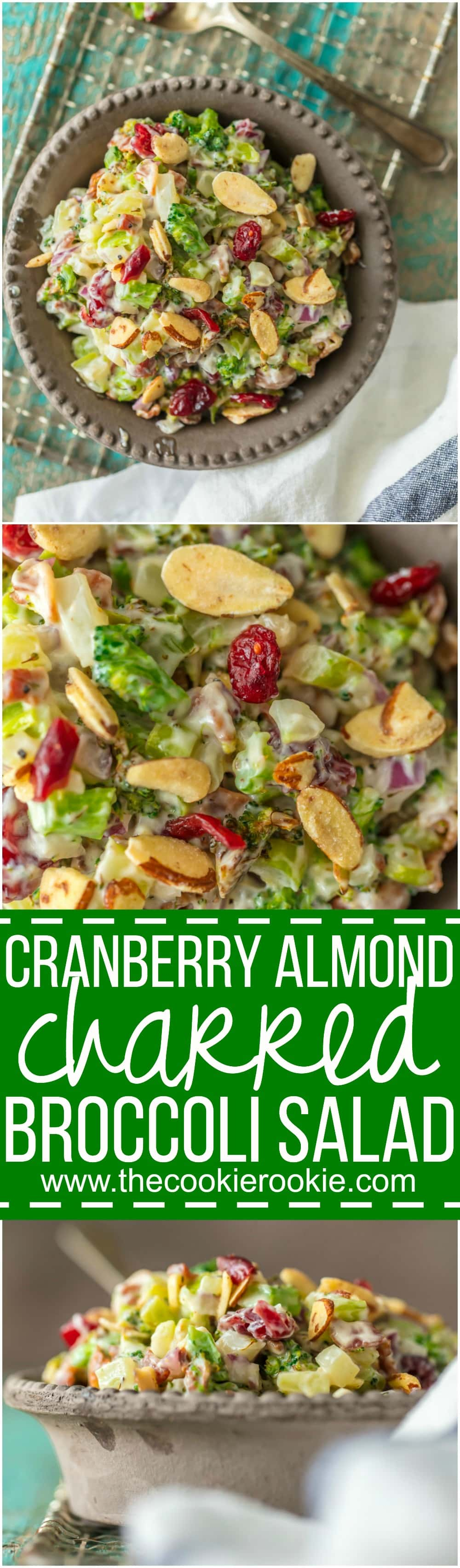 Cranberry Almond Charred Broccoli Salad is a twist on a holiday classic! With so much flavor, this delicious charred broccoli salad is sure to be your favorite Thanksgiving or Christmas side dish!