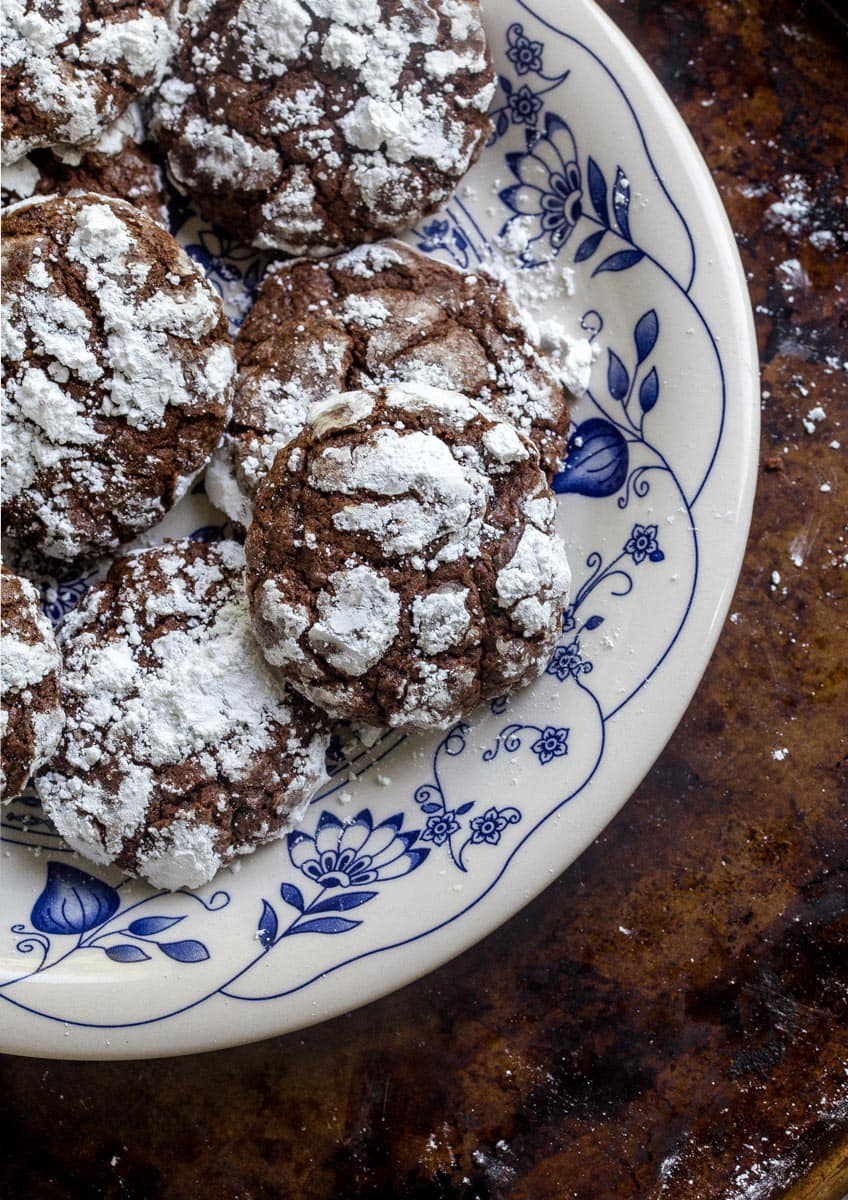 Chocolate Gooey Butter Cake Cookies | Dessert For Two