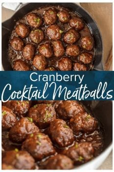COCKTAIL MEATBALLS are the best holiday appetizer! These sweet and spicy Cranberry Meatballs are cooked in a cranberry pepper jelly sauce, which gives them the perfect kick of flavor. These cranberry sauce meatballs are just so delicious! The best Thanksgiving, Christmas, or New Years Eve appetizer without a doubt.