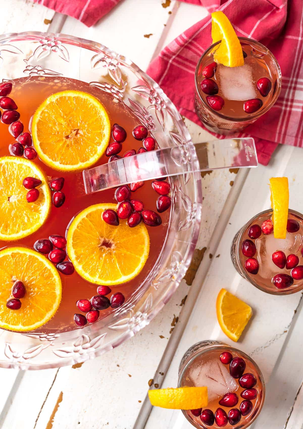 Holiday Punch Recipe made with cranberries and orange