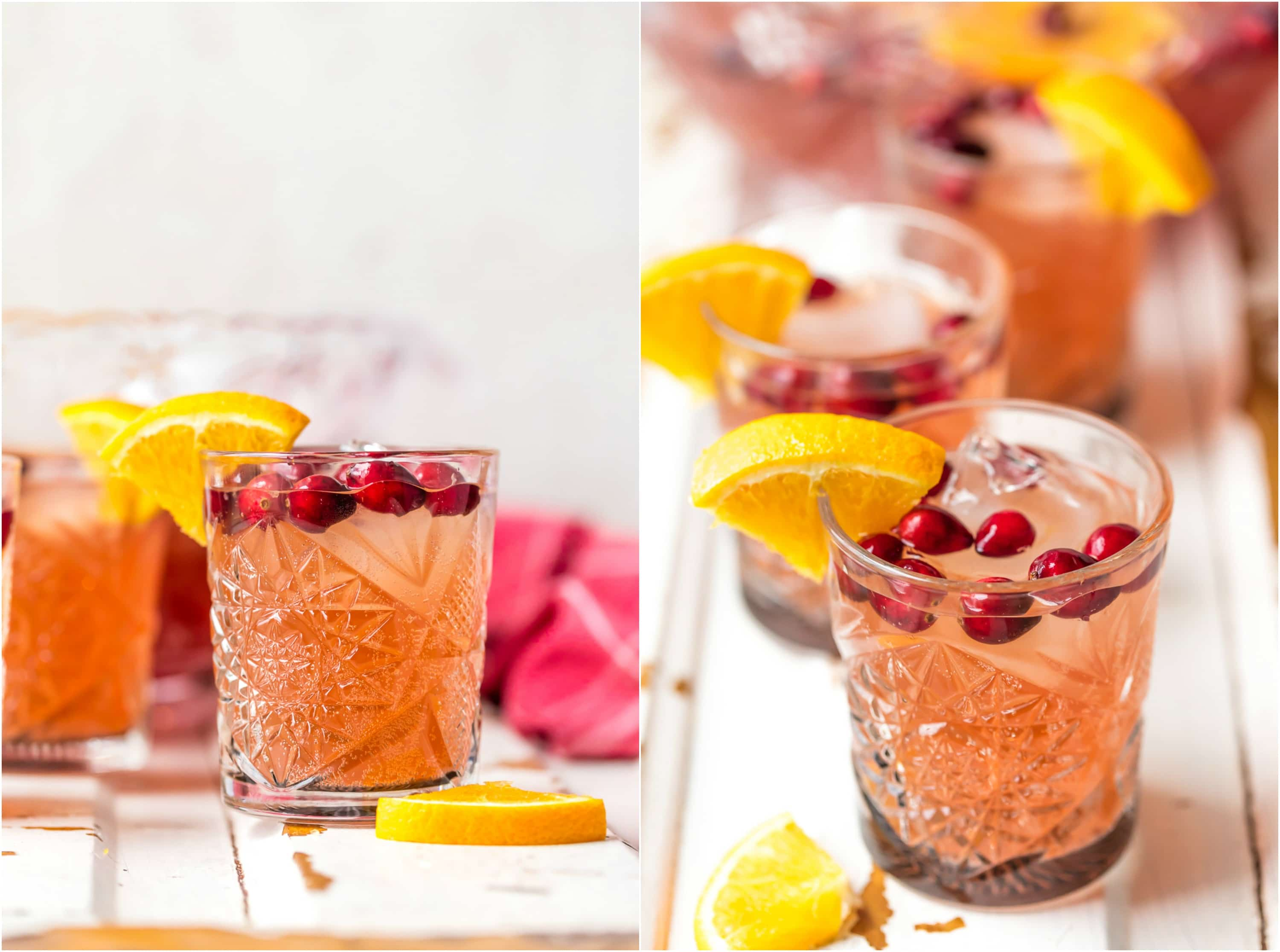 Holiday Punch is our favorite EASY PUNCH RECIPE perfect for Thanksgiving or Christmas! This Vodka punch is made with Cranberry Juice, Orange Juice, Ginger Ale, Sparkling Cider and more! You can pour in the Vodka or make it your new Non Alcoholic Christmas Punch Recipe. One of our very favorite Holiday Punch Recipes.