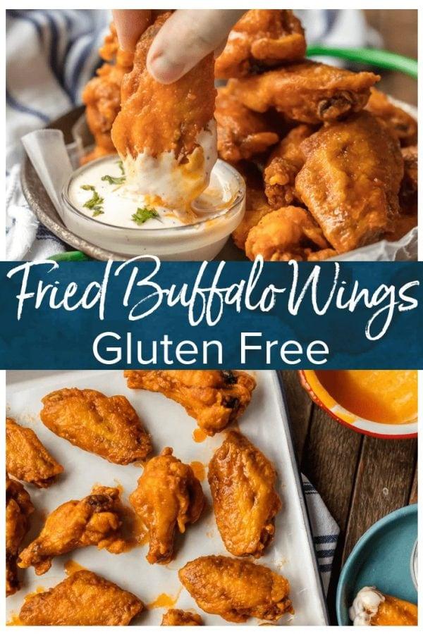 fried buffalo wings pinterest image