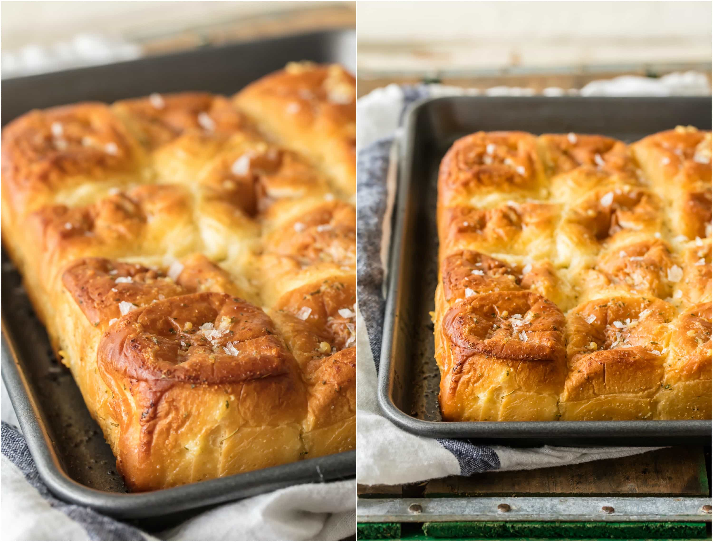These EASY Garlic Butter Hawaiian Rolls are literally the best rolls I have EVER TASTED! Made in just minutes and SO easy, the perfect bread side for Thanksgiving, Christmas, or any holiday!
