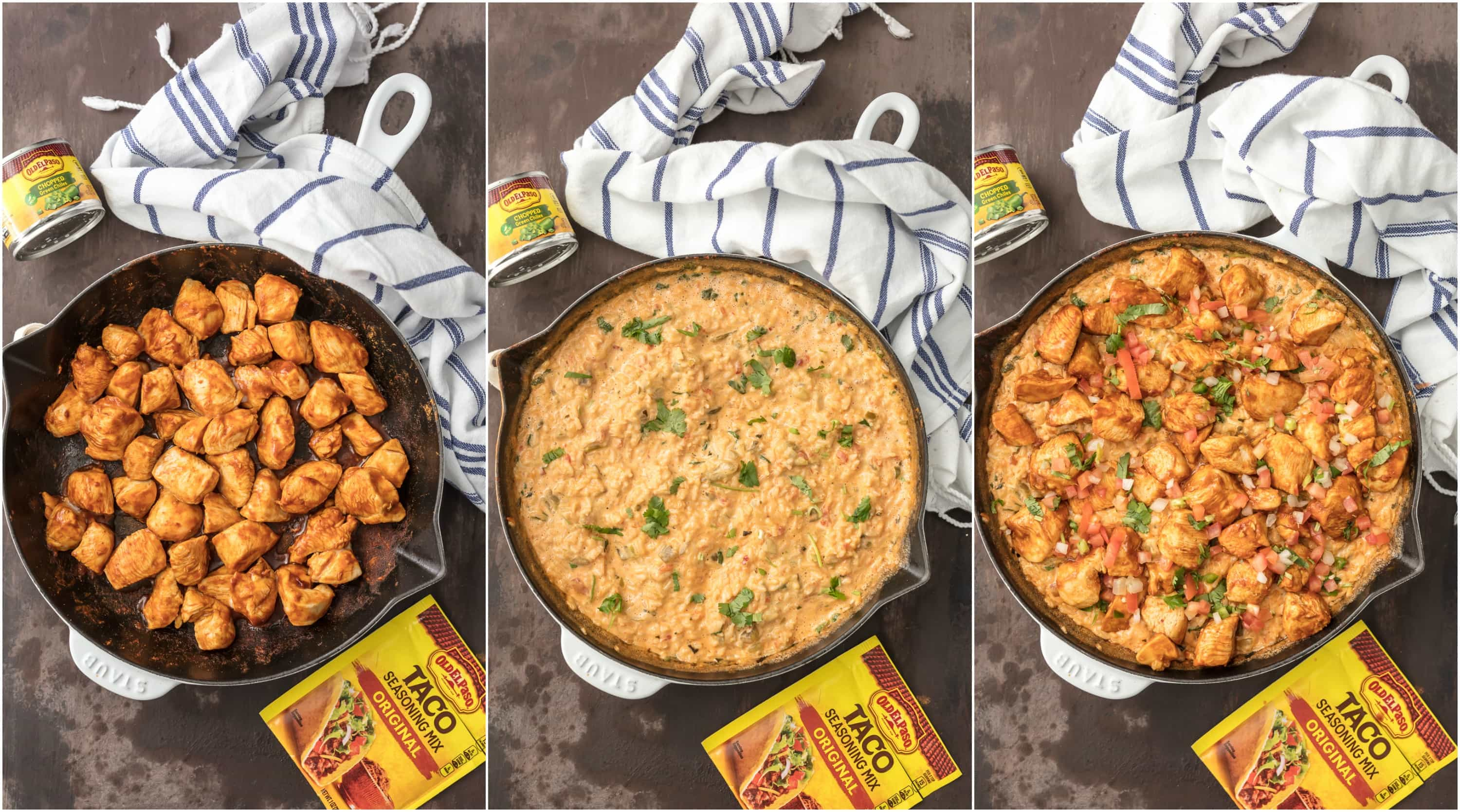 step by step how to make chicken con queso