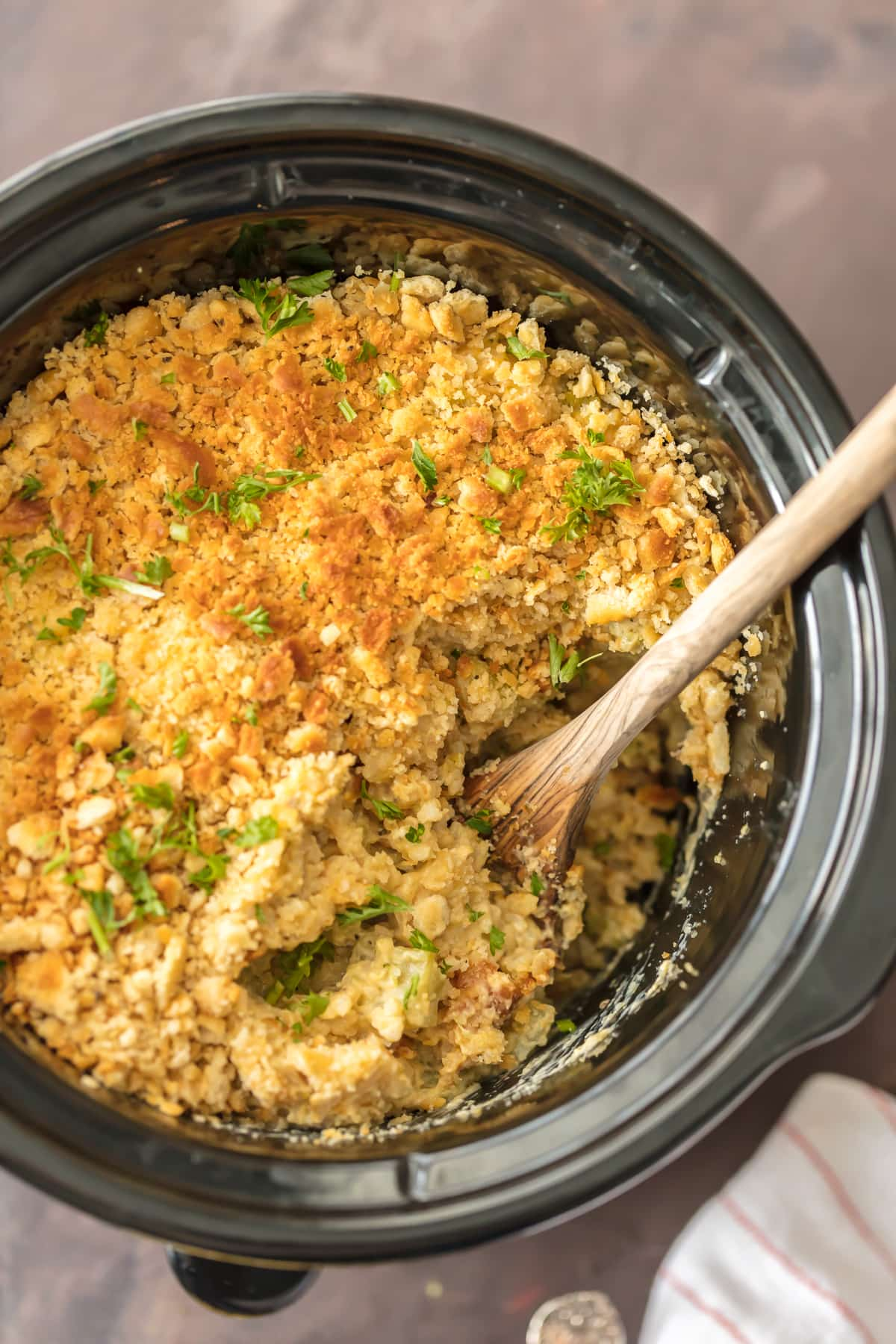 This Slow Cooker Broccoli Rice Casserole Is Our Go To Holiday Side Dish Such
