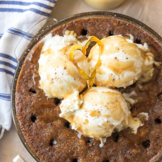 Sticky Toffee Pudding Poke Cake