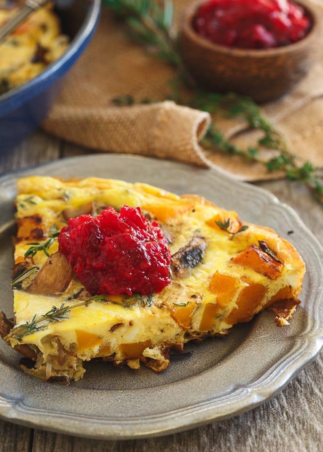 Thanksgiving Breakfast Frittata | Running to the Kitchen