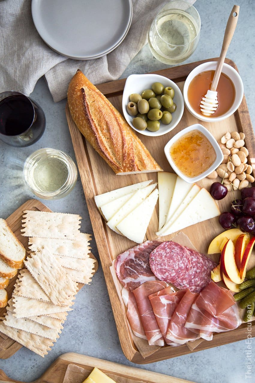 Meat and Cheese Board | The Little Epicurean