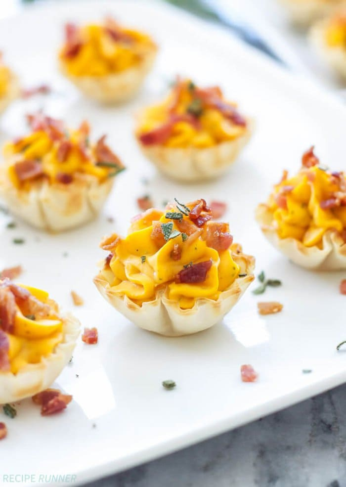 Mini Bacon Butternut Squash Cups | Spoonful of Flavor