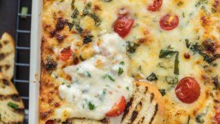 Cheesy Tomato Mozzarella Caprese Dip