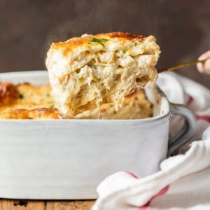 SEAFOOD LASAGNA is full of flavor, beautiful, and fool-proof. Layers of noodles, cheese, crab, shrimp, and more! This seafood lasagna recipe is so delicious!